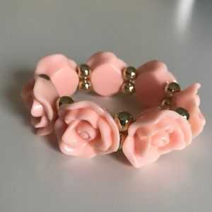 Jewelry - Free with purchase: NWOT Peach Rose Bracelet